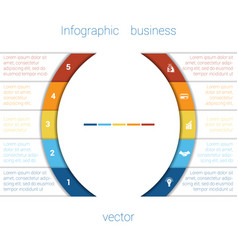 infographic strips and semicircle 5 vector image