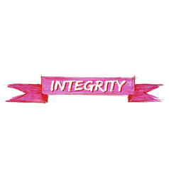 Integrity ribbon vector