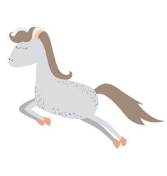 Light colors of gray cartoon horse with freckles vector