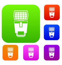 lighting flash for camera set collection vector image