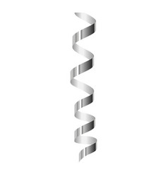 luxury silver serpentine icon realistic style vector image