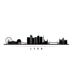 lyon skyline horizontal banner vector image