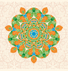 mandala ornament with space for your text vector image