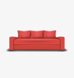 Mesh of realistic red sofa vector