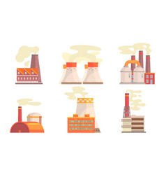 modern power plants collection refinery gas vector image