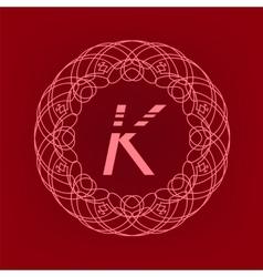 Monogram K vector image