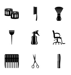 Mowing icons set simple style vector