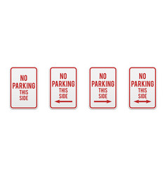 no parking this side vector image