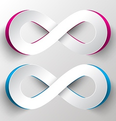 Paper Cut Infinity Symbols vector
