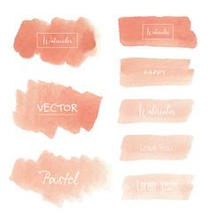 Peach watercolor background pastel watercolor vector