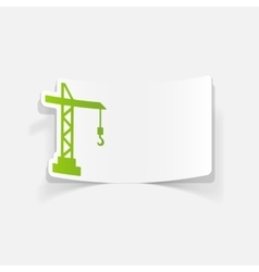 realistic design element hoisting crane vector image