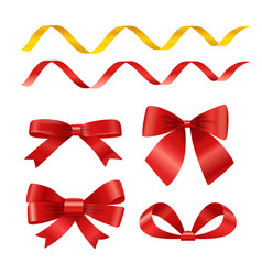 ribbons set isolated on white different ribbons vector image