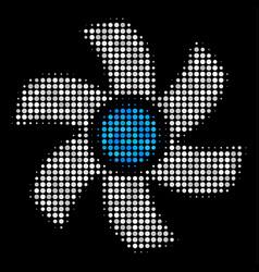 rotor halftone icon vector image