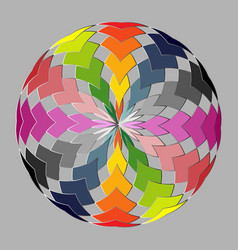 rounded pattern vector image