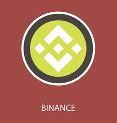 Set of physical golden coin binance coin bnb vector