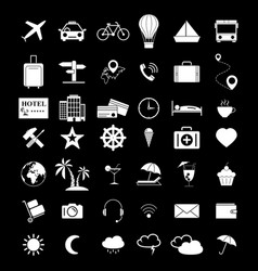 set of travel 42 icons vector image