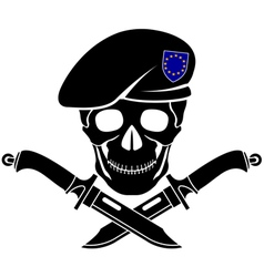 sign of special forces of EU vector image