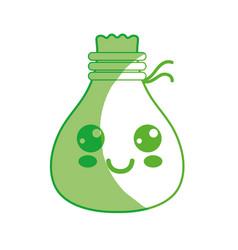 silhouette kawaii cute happy cloth bag vector image