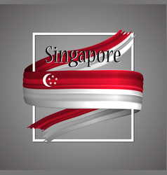 singapore flagofficial national singapores 3d vector image