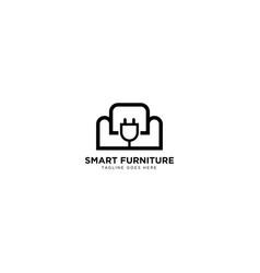 Smart furniture logo design vector