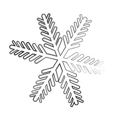 snowflake decorative isolated icon vector image vector image