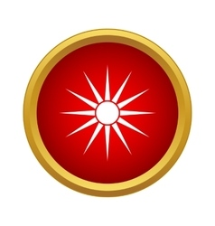 Sun icon in simple style vector