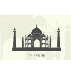 Taj Mahal in India vector