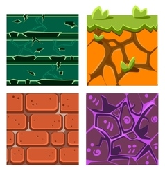 Textures for platformers icons set gems vector