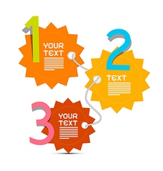 Three Steps Paper Infographics Layout vector image