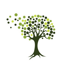 Tree icon logo template vector