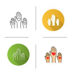 Unity in diversity icon vector