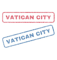Vatican city textile stamps vector
