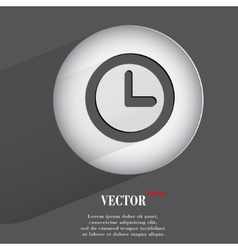 watch Flat modern web button with long shadow and vector image vector image