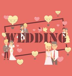 wedding typography poster vector image