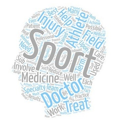 What is Sports Medicine text background wordcloud vector