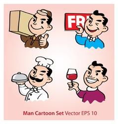 Working men cartoon vector