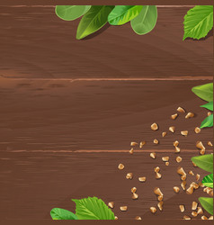 brown background with wooden texture and vector image