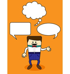 Cartoon with speech bubble vector image vector image