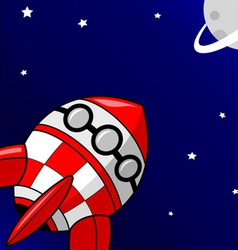 Red Rocket is heading to Planet vector image vector image