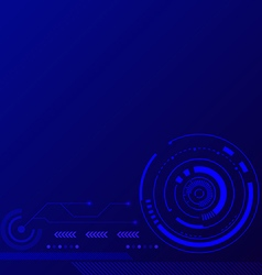 Abstract blue futuristic technology background vector image