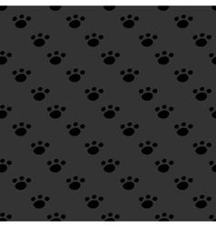 Animal footprint seamless dark pattern vector image vector image