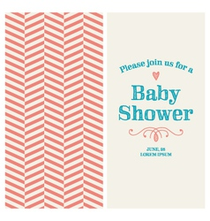 Baby shower card ornaments background vector