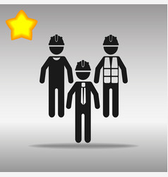black builder icon button logo symbol concept high vector image