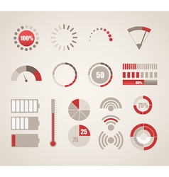 Different indicators collection vector