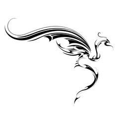 Flying dragon tattoo vector