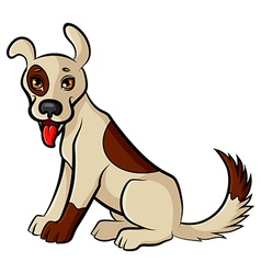 funny dog vector image vector image