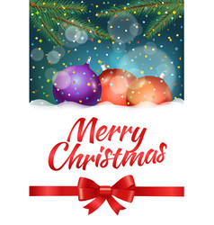 merry christmas and happy new year composirion vector image vector image
