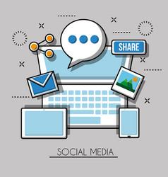 social media networks vector image