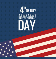united states independence day flag vector image