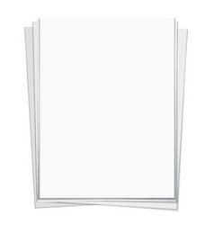 white notebook paper isolated on white background vector image